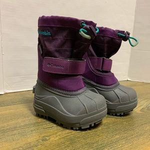 Columbia Purple Gray Rain Snow Boot Toddler 5